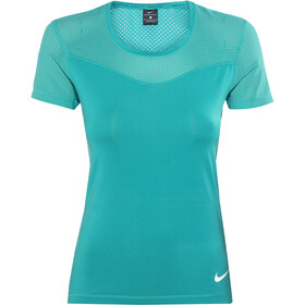 Nike Pro Hypercool Chemise manches courtes Femme, teal charge/white